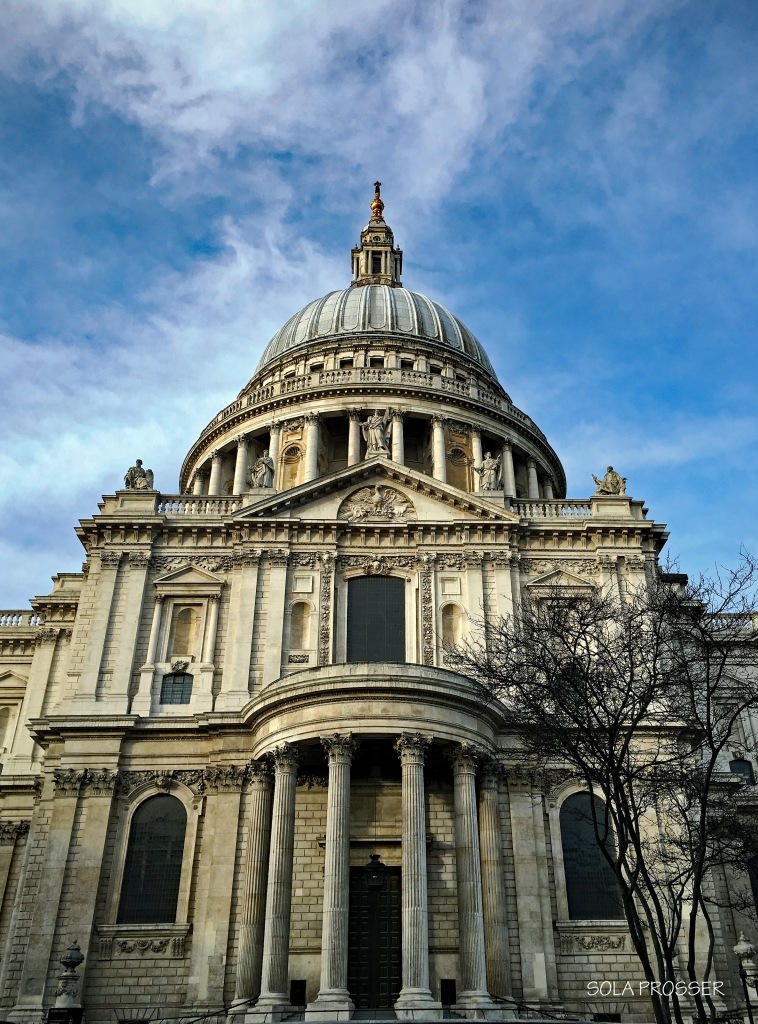 St. Paul's Cathedral stands 365 feet tall