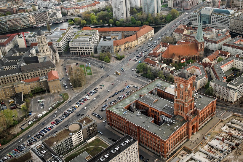 Great views from inside the Television Tower in Berlin