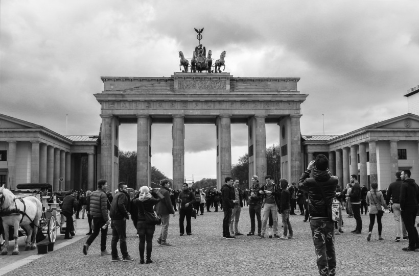 Brandenburg Gate - it separated East from West Berlin, geographically and politically