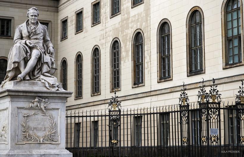 Alexander Von Humboldt statue - University of Berlin