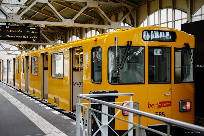 The metro (U-Bahn) in Berlin