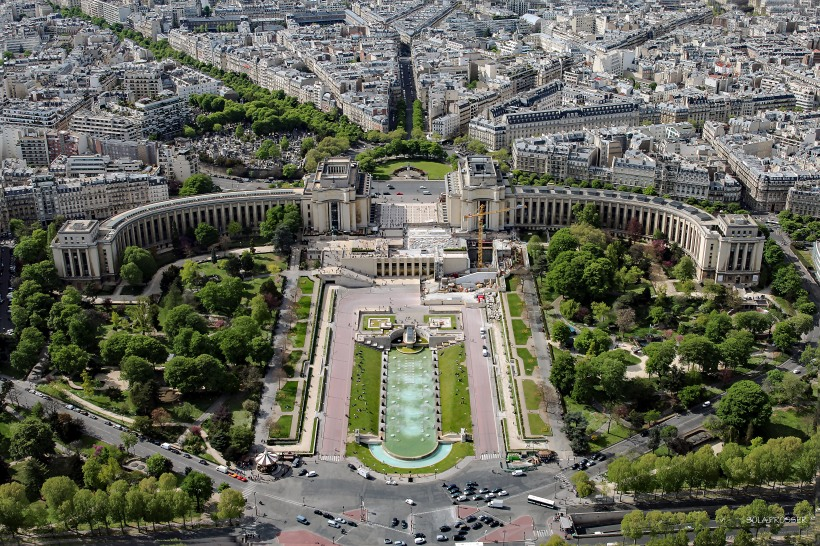 The beauty of Paris seen from the Eiffel Tower