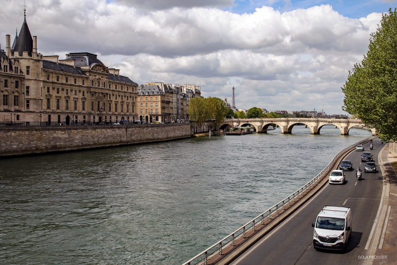The River Seine flows through Paris, the capital and more than 30 bridges are located over the river.