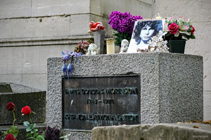 Père Lachaise Cemetery is the largest cemetery in Paris and is home to the burial tomb of James Morrison an American singer (the Doors).