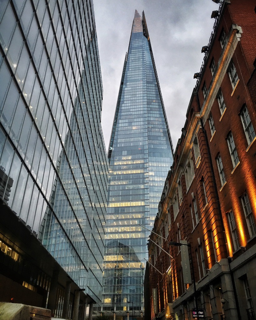 The Shard is the tallest building in the UK and towers over the city of London.