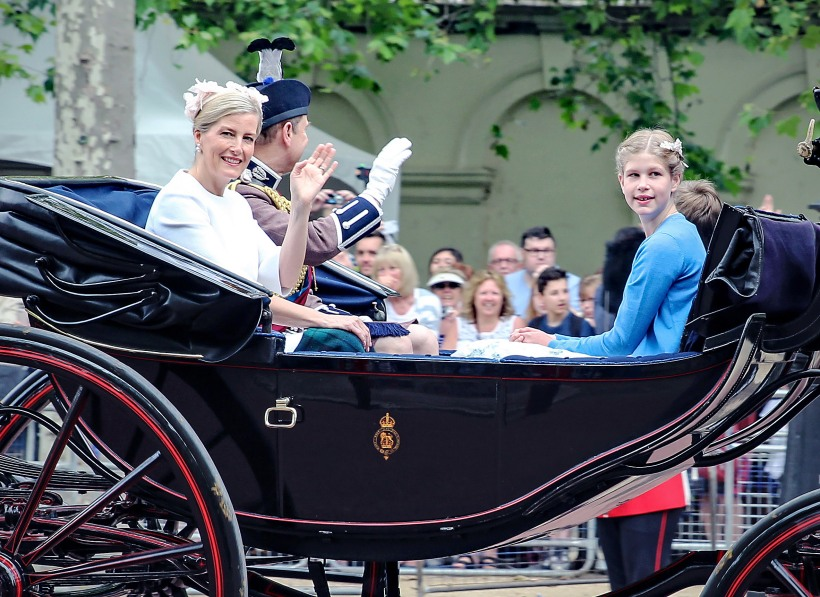 The Earl and Countess of Wessex attended with their children Lady Louise Windsor and James, Viscount Severn